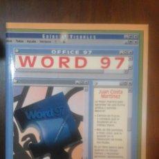 Libros de segunda mano: MICROSOFT WORD OFFICE 97 . Lote 123367019