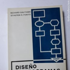 Libros de segunda mano: INFORMÁTICA - DISEÑO DE PROGRAMAS PARA SISTEMAS RICHARD GAUTHIER. Lote 123526043