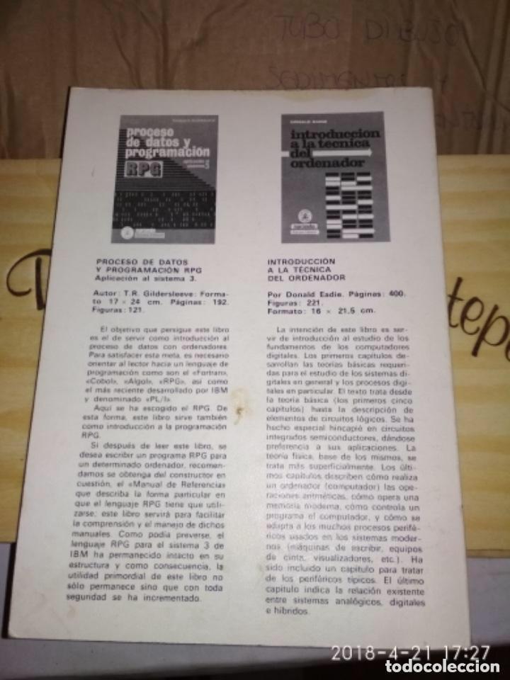 Libros de segunda mano: INICIACIÓN A LA INFORMÁTICA - R. QUINQUETON - Foto 2 - 124445443