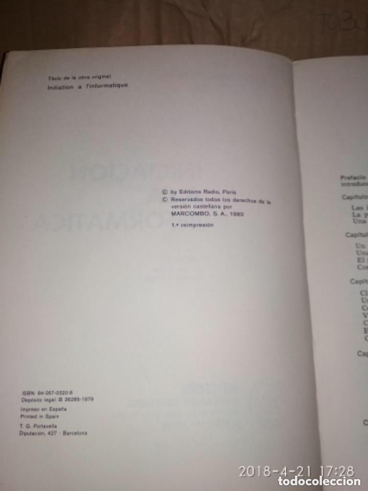 Libros de segunda mano: INICIACIÓN A LA INFORMÁTICA - R. QUINQUETON - Foto 3 - 124445443