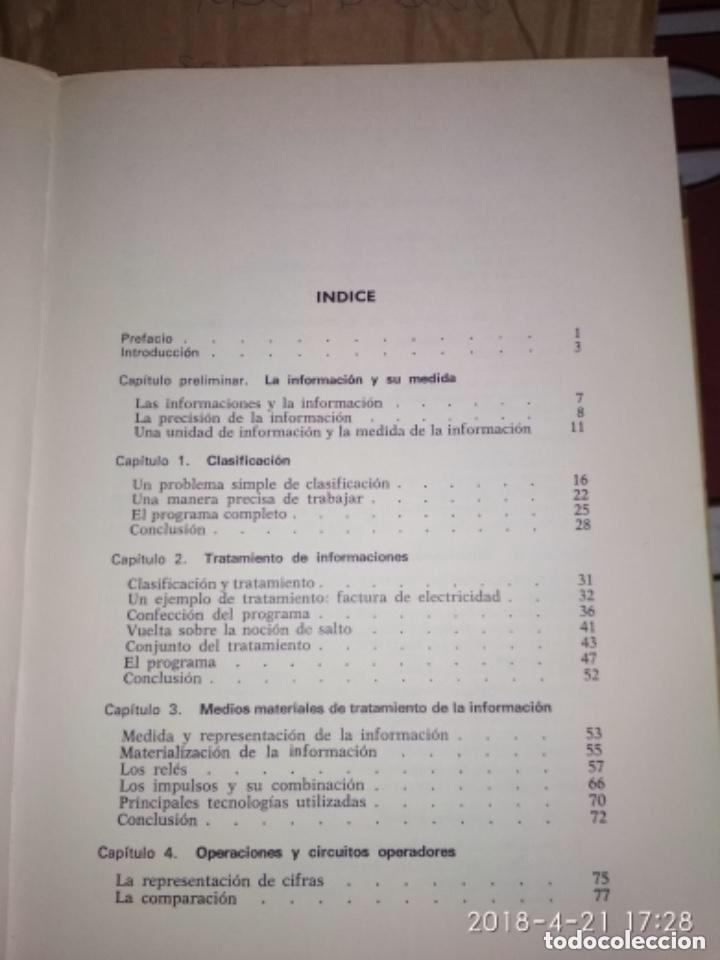 Libros de segunda mano: INICIACIÓN A LA INFORMÁTICA - R. QUINQUETON - Foto 4 - 124445443