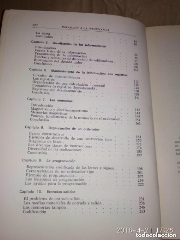 Libros de segunda mano: INICIACIÓN A LA INFORMÁTICA - R. QUINQUETON - Foto 5 - 124445443