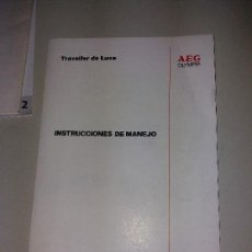 Libros de segunda mano: INSTRUCCIONES DE MANEJO DE MAQUINA OLYMPIA MODELO TRAVELLER DE LUXE. Lote 192367438