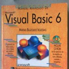 Libros de segunda mano: MICROSOFT VISUAL BASIC 6 ANAYA MULTIMEDIA CON DVD AÑO 1999. Lote 125217683