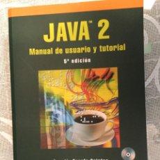 Libros de segunda mano: JAVA MANUAL DE USUARIO Y TUTOTIAL - RA-MA EDITORIAL CON DVD AÑO 2008. Lote 125219215