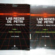 Libros de segunda mano: LAS REDES DE PETRI. TEORIA Y PRACTICA. MODELIZACION Y APLICACIONES. TOMO 1 Y 2. G.W. BRAMS. TDK252. Lote 126718647
