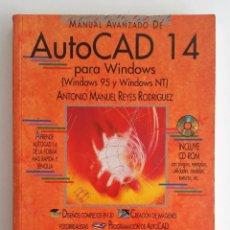 Libros de segunda mano: MANUAL AVANZADO DE AUTOCAD 14 - EDITORIAL ANAYA - INCLUYE EL CD. Lote 128165315