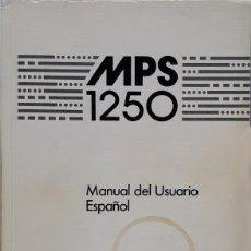 Libros de segunda mano: COMMODORE MPS 1250 - IMPRESORA - MANUAL DE USUARIO. Lote 131352190