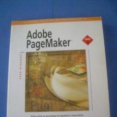 Libros de segunda mano: ADOBE PAGEMAKER, VERSIÓN 6, PARA WINDOWS. ANAYA 1996. INFORMÁTICA. SIN CD. Lote 132228498