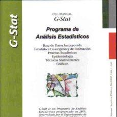 Libros de segunda mano: PROGRAMA DE ANÁLISIS ESTADISTICOS G-STAT 1.2. Lote 133507002