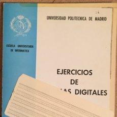 Libros de segunda mano: 1981. EJERCICIOS DE SISTEMAS DIGITALES. UNIVERSIDAD POLITÉCNICA DE MADRID. Lote 134767863