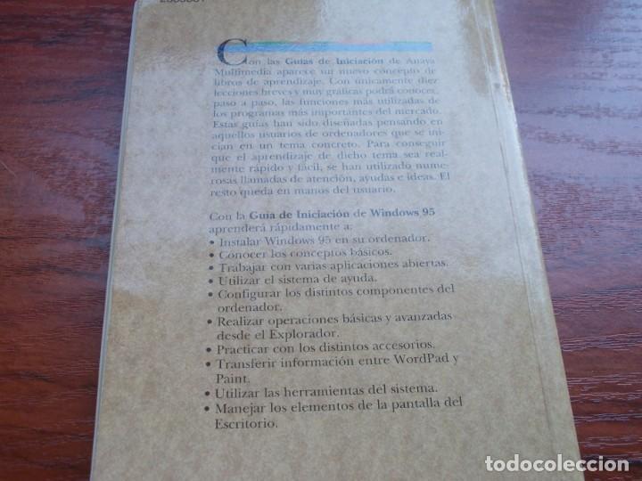 Libros de segunda mano: Windows 95 guía de iniciación, Julián Martínez Valero, Pablo J. García Núñez. Anaya 1.996 - Foto 2 - 135352822