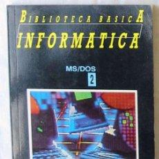 Libros de segunda mano: MS/DOS EL ESTANDAR DE IBM - BIBLIOTECA BÁSICA INFORMÁTICA - INGELEK - VER INDICE. Lote 137692634