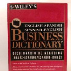 Libros de segunda mano: BUSINESS DICTIONARY DICCIONARIO DE NEGOCIOS INGLÉS-ESPAÑOL / ESPAÑOL-INGLÉS. ISBN 0471126659.. Lote 138713314