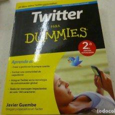Libros de segunda mano: TWITTER PARA DUMMIES PARA DUMMIES-JAVIER GUEMBE-N 3. Lote 180090351