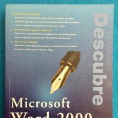 Libros de segunda mano: DESCUBRE MICROSOFT WORD 2000. JANE CALABRIA. AÑO 1999.. Lote 140458862
