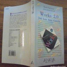 Libros de segunda mano: GUÍA PRÁCTICA PARA USUARIOS DE WORKS 2.0 JOSÉ LUIS ASÍN GASCÓN ANAYA MULTIMEDIA . Lote 140614790