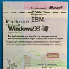 Libros de segunda mano: INTRODUCCIÓN MICROSOFT WINDOWS 98.. Lote 141543294