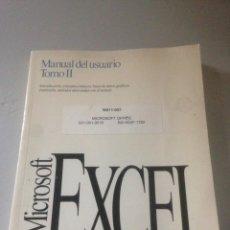 Libros de segunda mano: MANUAL DEL USUARIO TOMO II EXCEL. Lote 141601789