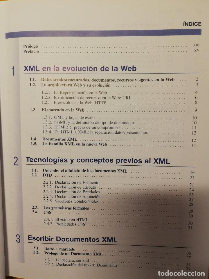 Libros de segunda mano: CURSO DE XML. INTRODUCCION AL LENGUAJE DE LA WEB (GREGORIO MARTÍN, ISABEL MARTIN) PEARSON - Foto 3 - 142468254