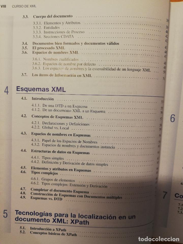 Libros de segunda mano: CURSO DE XML. INTRODUCCION AL LENGUAJE DE LA WEB (GREGORIO MARTÍN, ISABEL MARTIN) PEARSON - Foto 4 - 142468254