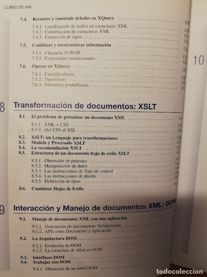 Libros de segunda mano: CURSO DE XML. INTRODUCCION AL LENGUAJE DE LA WEB (GREGORIO MARTÍN, ISABEL MARTIN) PEARSON - Foto 6 - 142468254