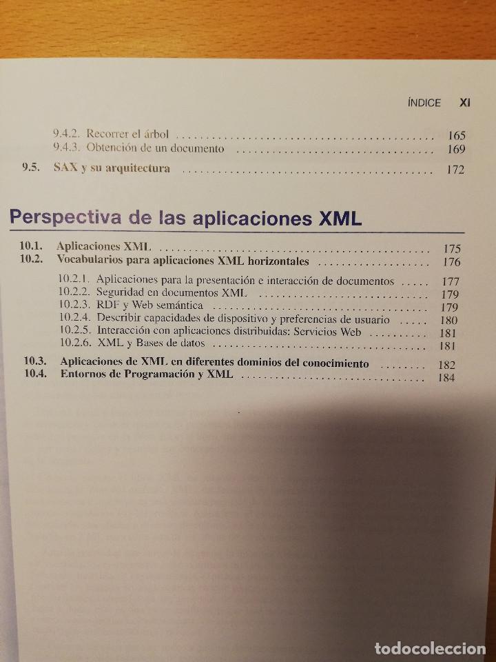 Libros de segunda mano: CURSO DE XML. INTRODUCCION AL LENGUAJE DE LA WEB (GREGORIO MARTÍN, ISABEL MARTIN) PEARSON - Foto 7 - 142468254