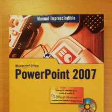 Libros de segunda mano: MANUAL IMPRESCINDIBLE MICROSOFT OFFICE POWER POINT 2007 (INCLUYE CD). Lote 142472454