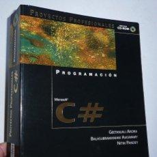 Livres d'occasion: PROGRAMACIÓN MICROSOFT C# PROYECTOS PROFESIONALES - VV. AA. (ANAYA MULTIMEDIA, 2002) CON CD-ROM. Lote 142789238