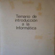 Libros de segunda mano: TEMARIO INTRODUCCION A LA INFORMATICA DATEN KOM LIBRO RETRO INFORMATICO. Lote 145022170