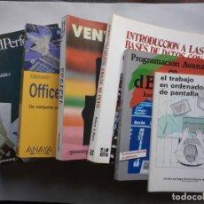 Libros de segunda mano: LOTE DE 6 LIBROS DE INFORMÁTICA Y PROGRAMACIÓN. Lote 147313798