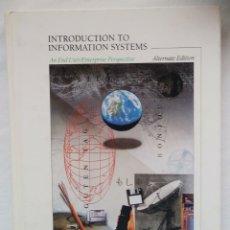 Libros de segunda mano: INTRODUCTION TO INFORMATION SYSTEMS. AN END USER/ENTERPRISE PERSPECTIVE. JAMES A. O'BRIEN. DEBIBL. Lote 148173950