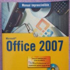 Libros de segunda mano: MICROSOFT OFFICE 2007 / INCLUYE CD – MANUELA PEÑA ALONSO (ANAYA, 2007) // MUY BUEN ESTADO // WINDOWS. Lote 149800938