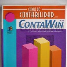 Libros de segunda mano: CURSO DE CONTABILIDAD CON CONTAWIN - HOBBY PRESS. Lote 149874510