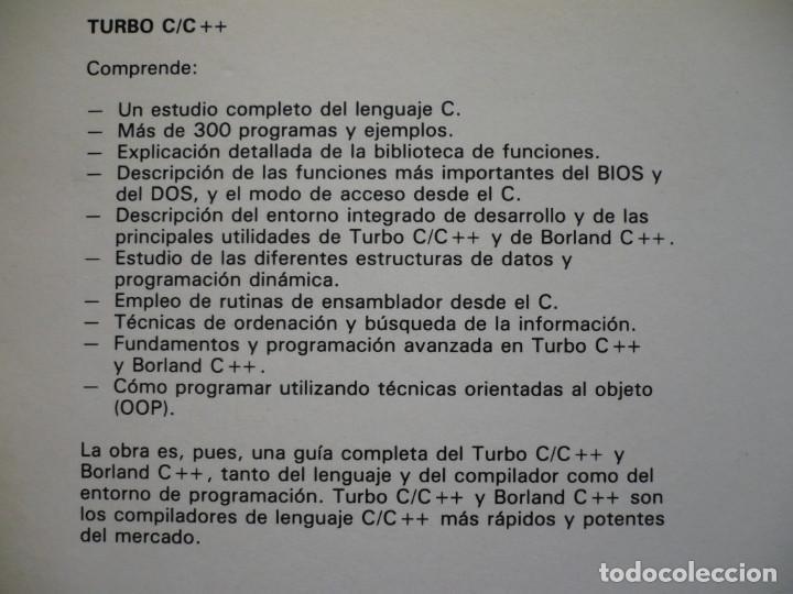 Libros de segunda mano: TURBO C. C++. INICIACION Y PROGRAMACION AVANZADA - ANTONIO MATA - EDITORIAL PARANINFO - Foto 2 - 152398396