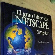 Libros de segunda mano: EL GRAN LIBRO DE NETSCAPE: NAVIGATOR. MARK TORBEN RUDOLPH. MARCOMBO/DATA BECKER 1996. INTERNET.. Lote 150794494