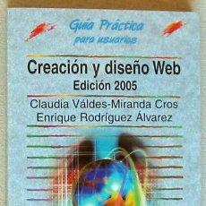 Libros de segunda mano: CREACIÓN DE PÁGINAS WEB - GUÍA PRÁCTICA ANAYA 2005 - 352 PÁGINAS - VER ÍNDICE. Lote 151363850