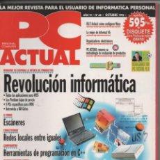 Libros de segunda mano: PC ACTUAL N° 68 OCTUBRE 1995 REVOLUCIÓN INFORMÁTICA WINDOWS 95 APLICACIONES, COMICS PARA CD-ROM ETC. Lote 151437262