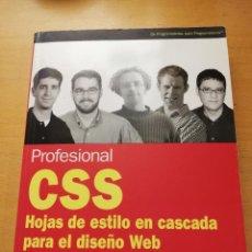 Libros de segunda mano: CSS. HOJAS DE ESTILO EN CASCADA PARA EL DISEÑO WEB (VV. AA.) ANAYA MULTIMEDIA. Lote 152695122