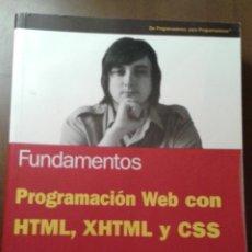 Libros de segunda mano: PROGRAMACIÓN WEB CON HTML,XHTML Y CSS. FUNDAMENTOS. ANAYA MULTIMEDIA. JON DUCKETT. Lote 153263730