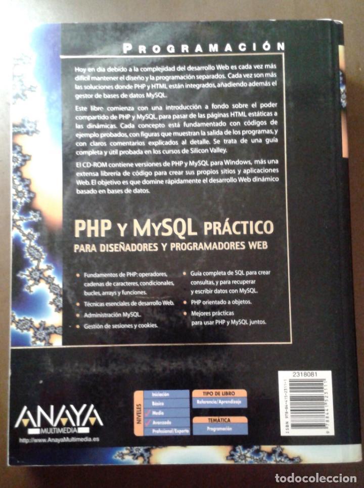 Libros de segunda mano: PHP Y MYSQL PRÁCTICO. ANAYA MULTIMEDIA. ELLIE QUIGLEY. - Foto 2 - 153264714