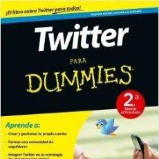 Libros de segunda mano: TWITTER PARA DUMMIES. Lote 153540962