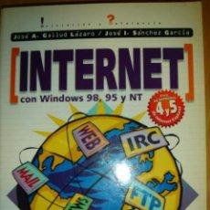 Libros de segunda mano: INTERNET CON WINDOWS 98. INICIACIÓN Y REFERENCIA. JOSÉ ANTONIO GALLUD LÁZARO, ET AL.. Lote 153853194