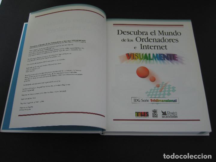Libros de segunda mano: Descubra el Mundo de los Ordenadores e Internet Visualmente - 1999 - 320 pàg. - Tamaño 28.6x22.1 cm. - Foto 3 - 154802922
