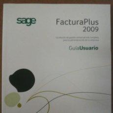 Libros de segunda mano: FACTURA PLUS 2009, GUIA DE USUARIO - SAGE - MUY BUEN ESTADO. Lote 155290182