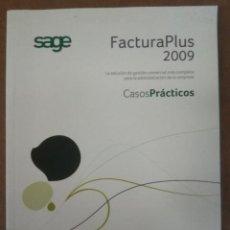 Libros de segunda mano: FACTURA PLUS 2009, CASOS PRACTICOS - SAGE - MUY BUEN ESTADO. Lote 155290374