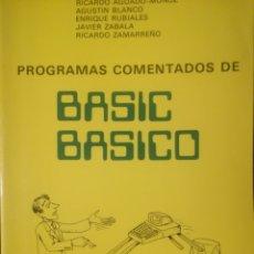 Libros de segunda mano: PRGRAMAS COMENTADOS DE BASIC BASICO. Lote 155412862