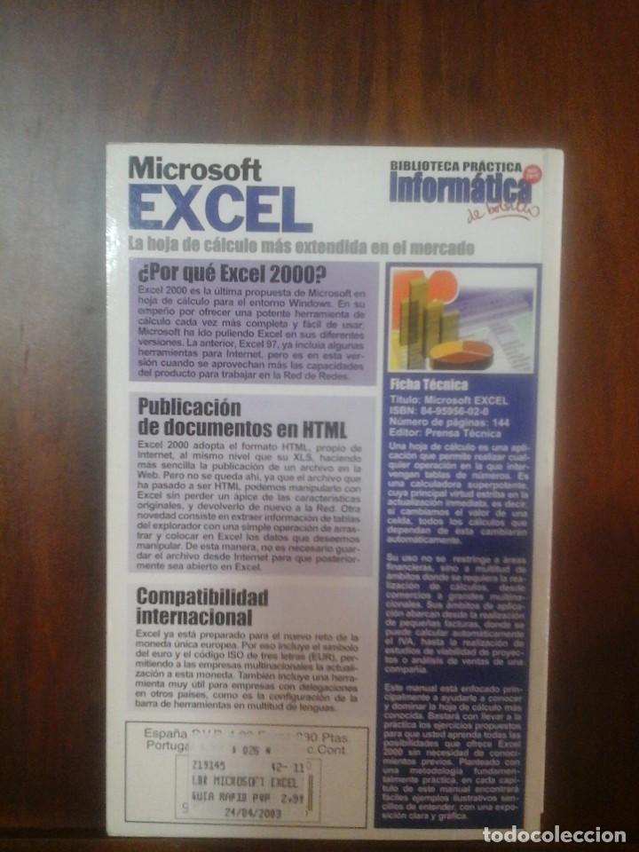 Libros de segunda mano: Microsoft Excel - Foto 2 - 155786142