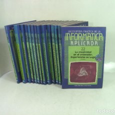 Libros de segunda mano: 17X INFORMATICA APLICADA ENCICLOPEDIA -SIGLO CULTURAL 1986-TAMBIEN SUELTOS-DE LA PC PROGRAMACION . Lote 156022430