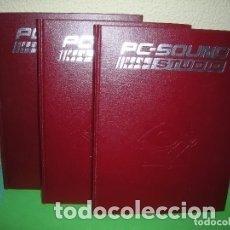 Libros de segunda mano: ENCICLOPEDIA PC SOUND STUDIO - 3 TOMOS - 2002. Lote 156523922